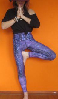 Yoga Democracy wistful wisteria yoga legging full length maat L,Goosvintage